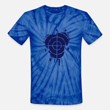 Cross Hairs A cross-hair as a graffiti - Unisex Tie Dye T-Shirt
