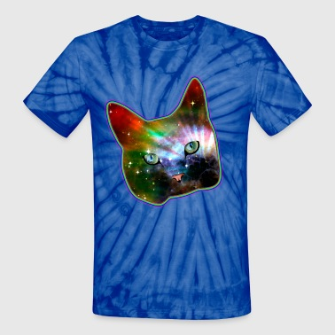 Cat In Space cat shirt rainbow space cat - Unisex Tie Dye T-Shirt