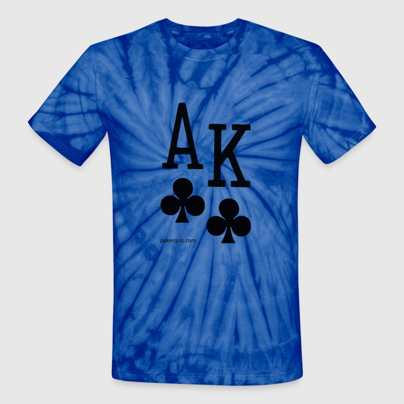 Ace King of Clubs - Unisex Tie Dye T-Shirt