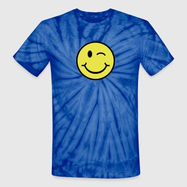 Smiley - Winking - Unisex Tie Dye T-Shirt