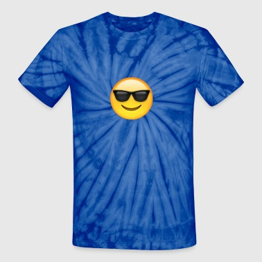 Glasses emoticon tie dye - Unisex Tie Dye T-Shirt