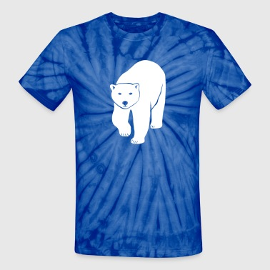 polar bear ice black white penguin knut climate change stop global warming - Unisex Tie Dye T-Shirt