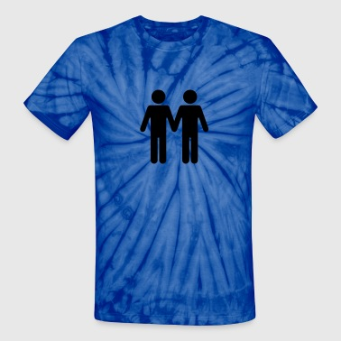 Gay Silhouette Gay Men WC Style - Unisex Tie Dye T-Shirt