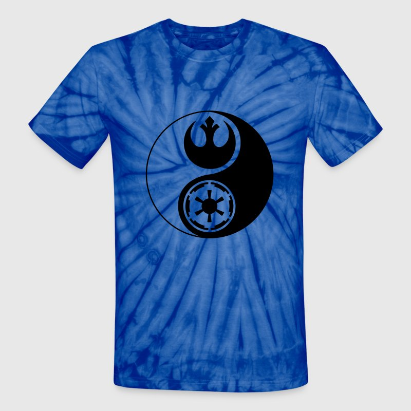 Star Wars Yin Yang 1-Color Dark - Unisex Tie Dye T-Shirt
