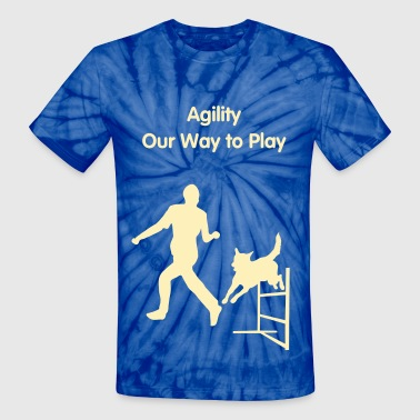 Dog Jumps Agility Hurdle - Unisex Tie Dye T-Shirt