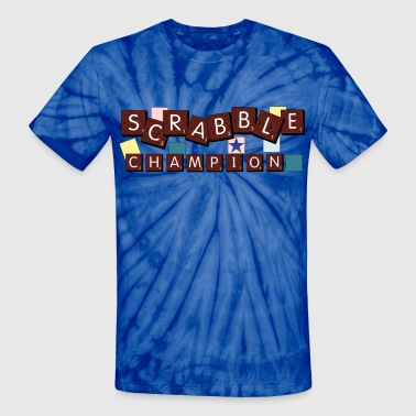 scrabble_champion - Unisex Tie Dye T-Shirt