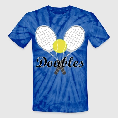 Tennis Doubles Racquet and Ball Sports - Unisex Tie Dye T-Shirt