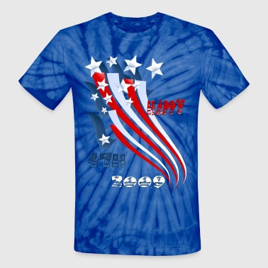 Independence Day Flag - Unisex Tie Dye T-Shirt