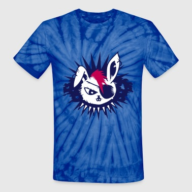 rabbit with an eye patch and a mohawk - Unisex Tie Dye T-Shirt