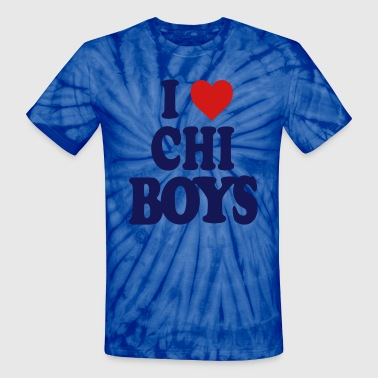 I LOVE CHICAGO BOYS-CHI - Unisex Tie Dye T-Shirt