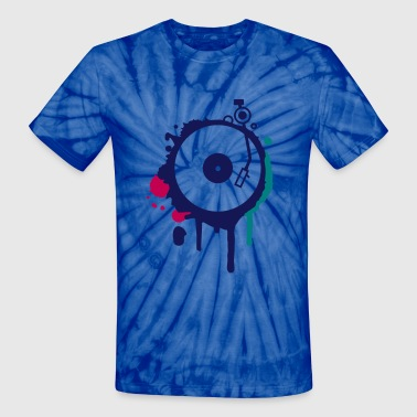 Turntable Graffiti - Unisex Tie Dye T-Shirt