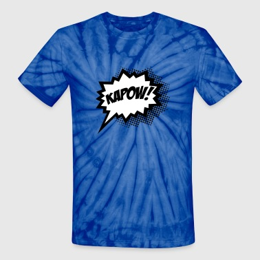 Comic KAPOW!, Super Hero, Cartoon, Bubble, Boom,  - Unisex Tie Dye T-Shirt