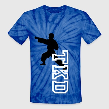 Martial Arts Boy - Unisex Tie Dye T-Shirt