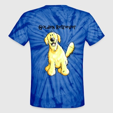 Happy Golden Retriever - Dog - Dogs - Unisex Tie Dye T-Shirt
