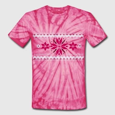 Star pattern in the Norwegian style - Unisex Tie Dye T-Shirt