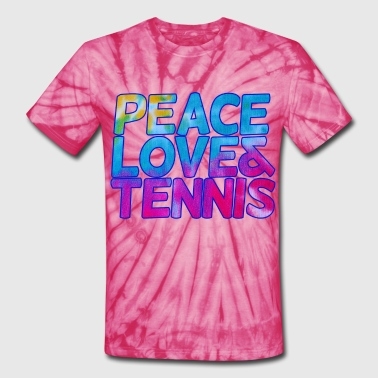 Sporty Peace love and tennis - Unisex Tie Dye T-Shirt