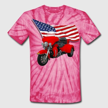Trike with Flag - Unisex Tie Dye T-Shirt