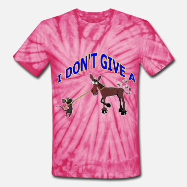 Flying Rat I DON'T GIVE A RAT'S ASS - Unisex Tie Dye T-Shirt
