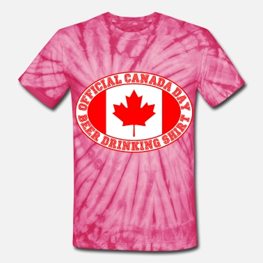 Funny Canada Day OFFICIAL CANADA DAY BEER DRINKING SHIRT - Unisex Tie Dye T-Shirt