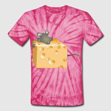 Cheese and Mouse - Unisex Tie Dye T-Shirt