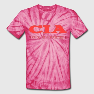 Sex Rose CIA cute in anything roses - Unisex Tie Dye T-Shirt