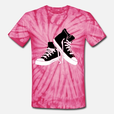 Shoe Print shoes - Unisex Tie Dye T-Shirt