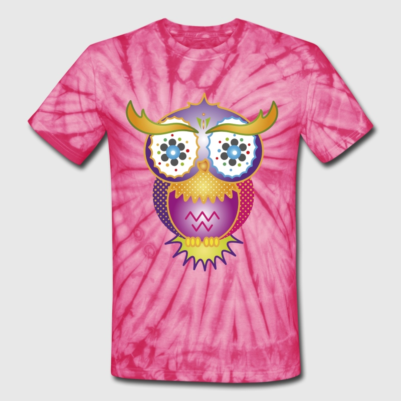 A psychedelic owl - Unisex Tie Dye T-Shirt