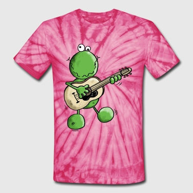 Rock and Pop Frog - Unisex Tie Dye T-Shirt