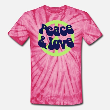 Peace And Love Peace and Love - Unisex Tie Dye T-Shirt
