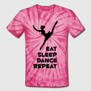 eat_sleep_dance_narrow - Unisex Tie Dye T-Shirt