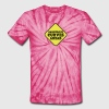 DANGEROUS CURVES AHEAD warning sexy sign - Unisex Tie Dye T-Shirt