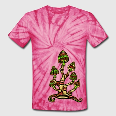 magic mushrooms - Unisex Tie Dye T-Shirt