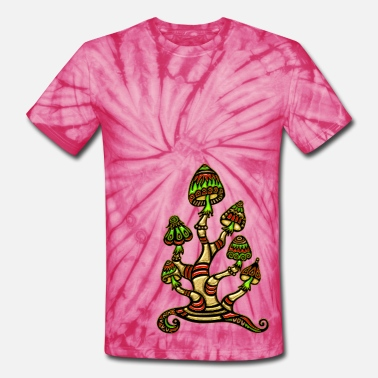 Psychedelic magic mushrooms - Unisex Tie Dye T-Shirt