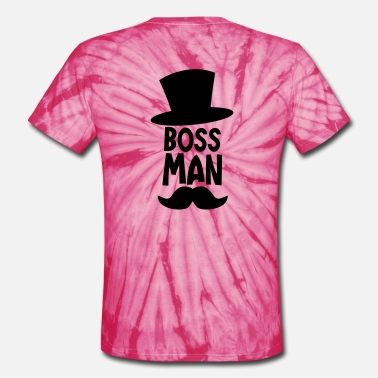 The Boss Man BOSS MAN moustache - Unisex Tie Dye T-Shirt