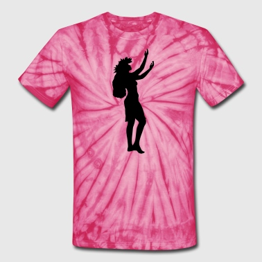 Hawaiian dancer - Unisex Tie Dye T-Shirt