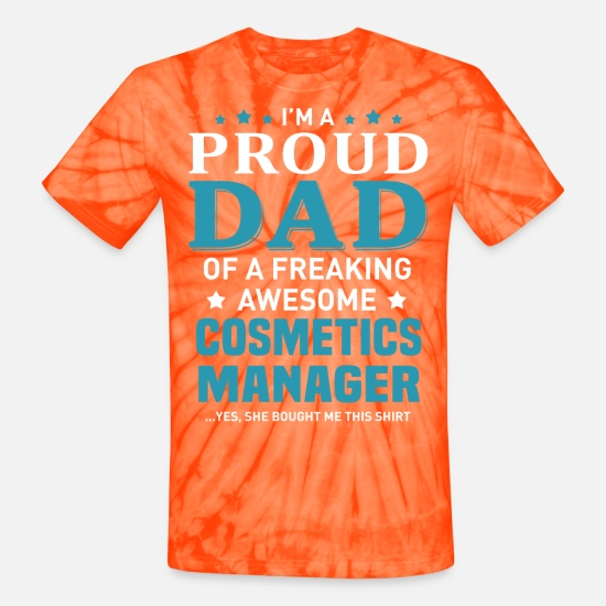 Father And Son T-Shirts - Cosmetics Manager - Unisex Tie Dye T-Shirt spider orange