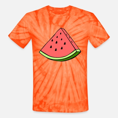 Wedge Watermelon Wedge - Unisex Tie Dye T-Shirt