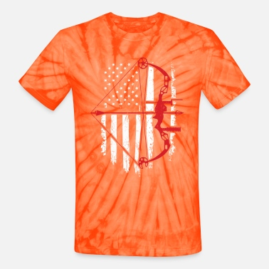 Bow BowHunter Distressed American Flag - Unisex Tie Dye T-Shirt