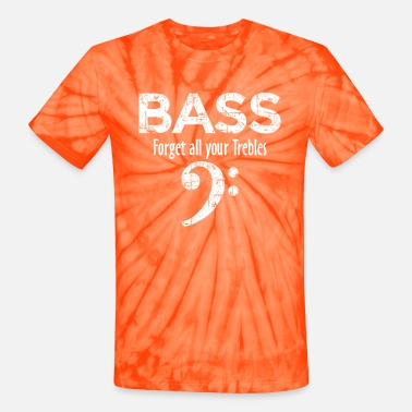 Bass Player BASS - Forget all your Trebles (Vintage Weiß) - Unisex Tie Dye T-Shirt