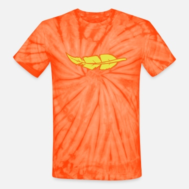 Two Colored feather two color - Unisex Tie Dye T-Shirt