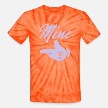 Mickey Heart Hands mine left side - Unisex Tie Dye T-Shirt