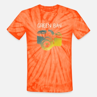 Green Bay camera with heart - Unisex Tie Dye T-Shirt