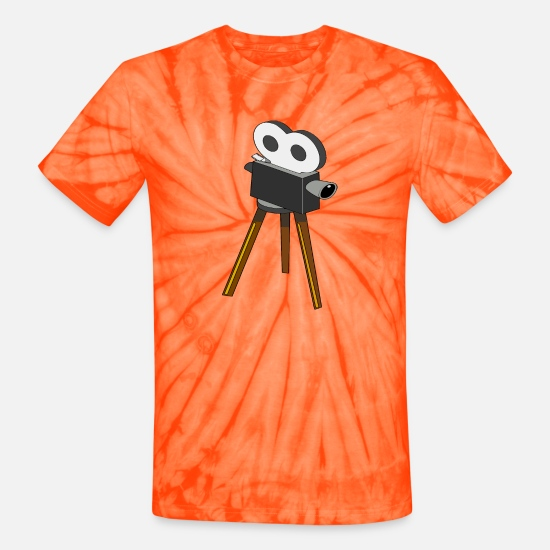 Silent T-Shirts - Film Camera - Unisex Tie Dye T-Shirt spider orange