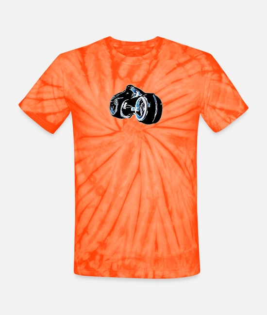 Tron Light Cycle T-Shirts - Light Cycle - Unisex Tie Dye T-Shirt spider orange