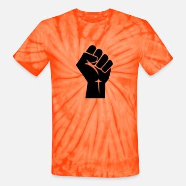 CORBYN BUM CHUM: nationalise Bolton.  Raised-fist-logo-vector-unisex-tie-dye-t-shirt