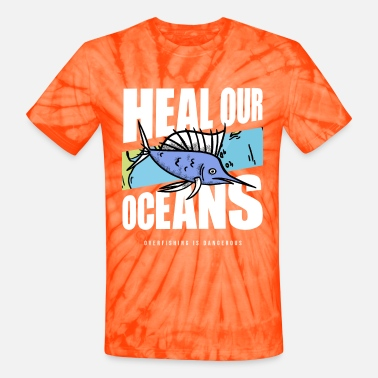 Save The Whales Overfishing Protest Earth Day Climate Change Coral - Unisex Tie Dye T-Shirt
