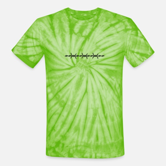 Wireless T-Shirts - barbed wire (1c) - Unisex Tie Dye T-Shirt spider lime green