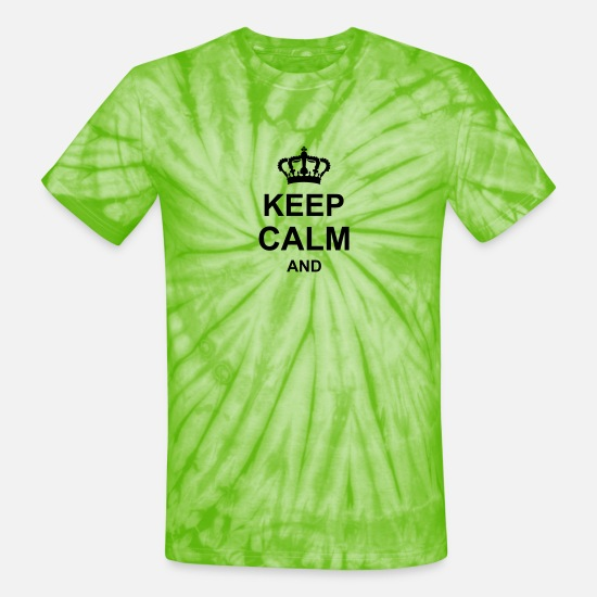 Popular T-Shirts - keep_calm_and_g1_k1 - Unisex Tie Dye T-Shirt spider lime green