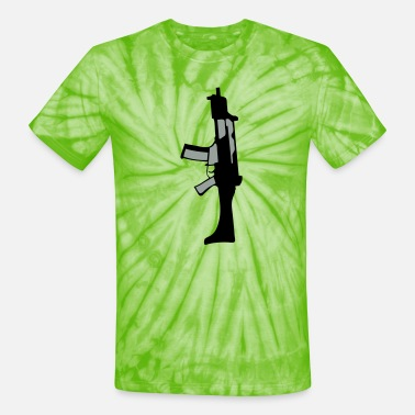 Submachine Gun 212 submachine gun - Unisex Tie Dye T-Shirt