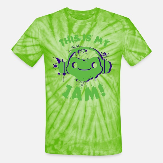 Tee T-Shirts - This is My Jam! - Unisex Tie Dye T-Shirt spider lime green